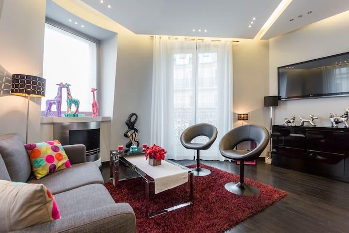 Nouveau appt ultra design au c ur de paris for Appartement ultra design