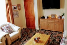 During the day our living room is nice & bright. It is a shared space for all to enjoy.
