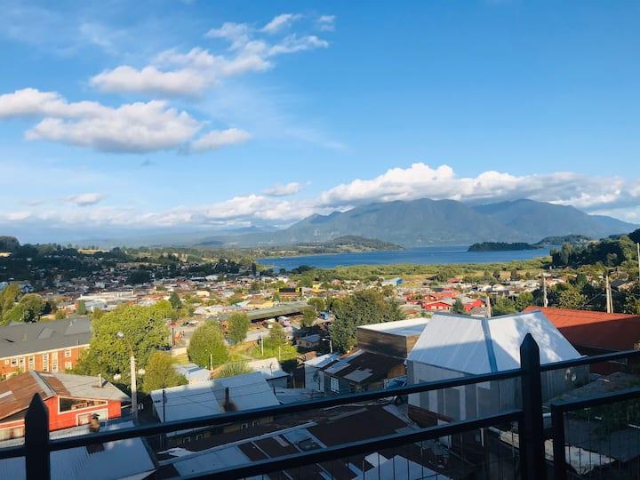 Departamento con vista al lago Panguipulli, Chile
