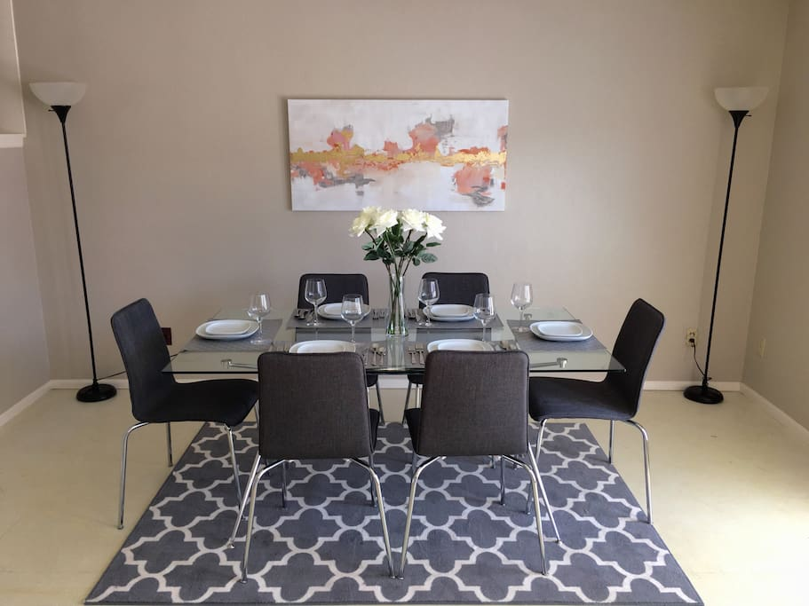 Dining room with set up for 6.