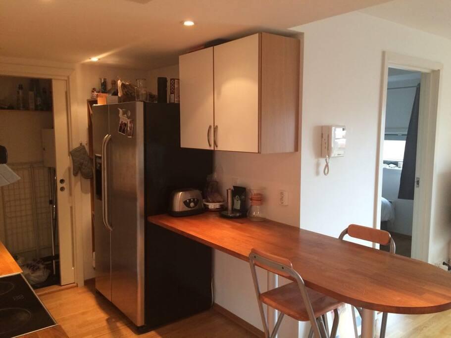 work space in kitchen