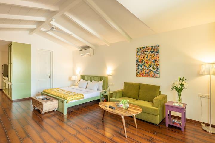 Unique Green Studio apartment in Reis Magos