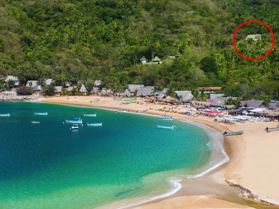 Casa Sanctuary in upper right where red circle is.