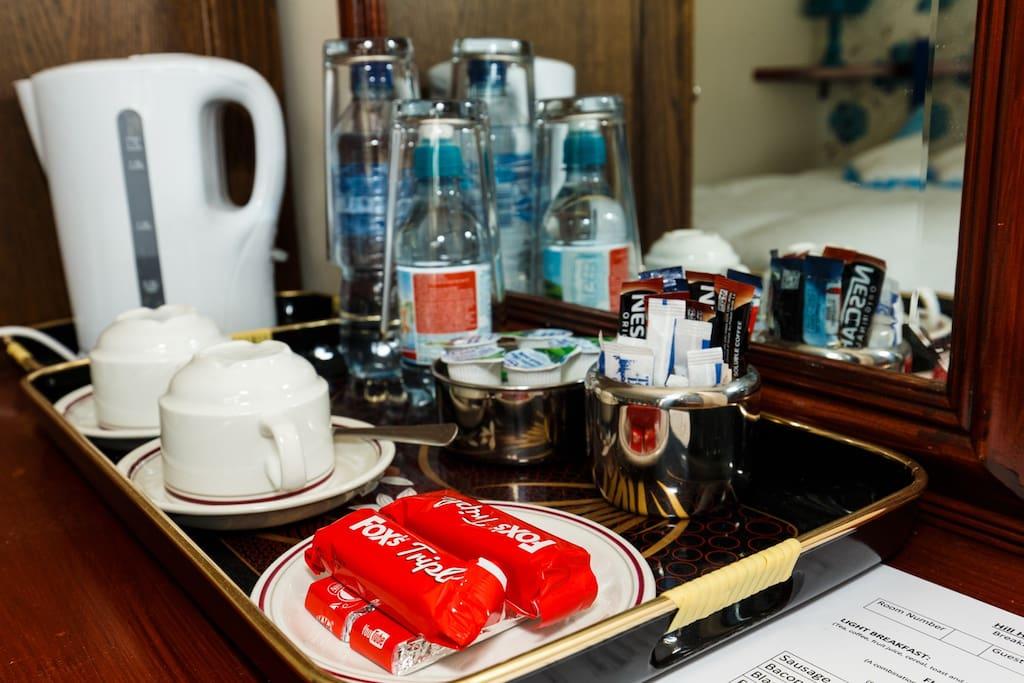 Drink making facilities in room
