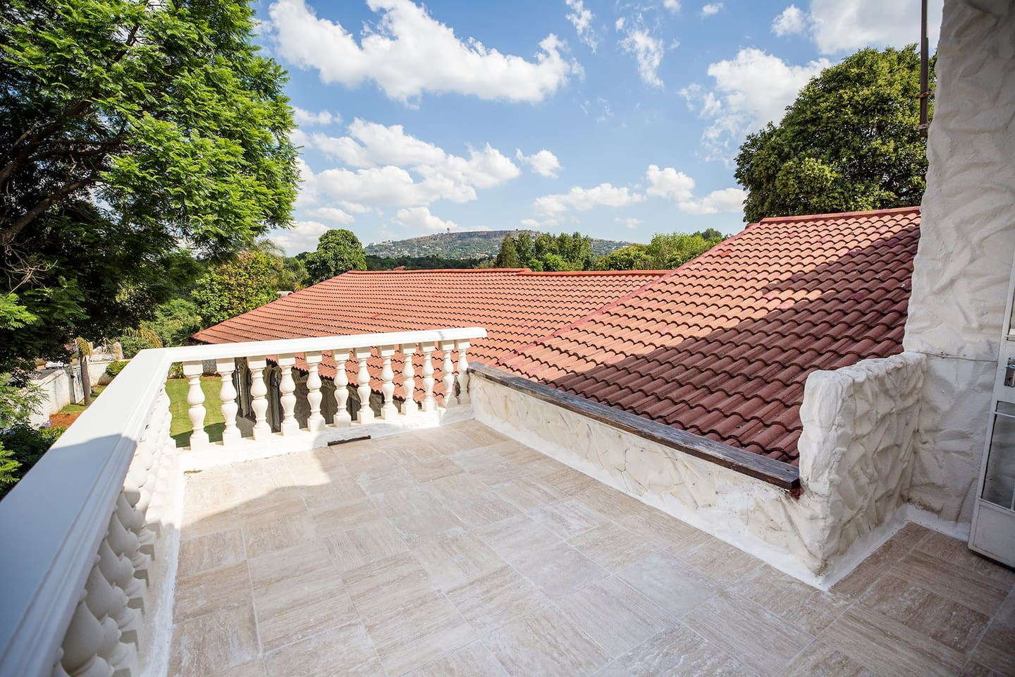 Rear Balcony with A View of Northcliff Hill
