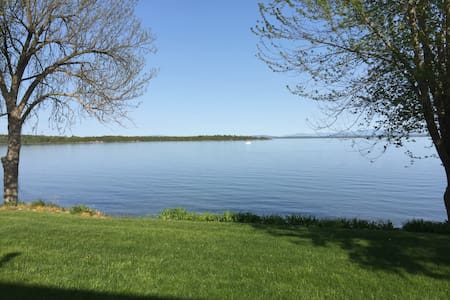 Lakeside Retreat,  overlooking lake. - Plattsburgh