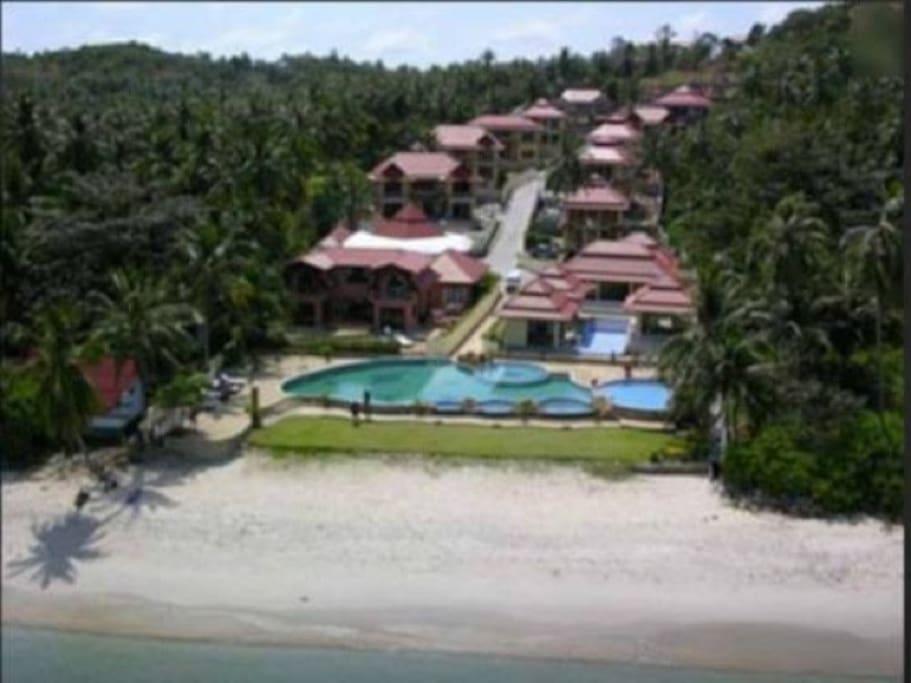 Resort beachfront area