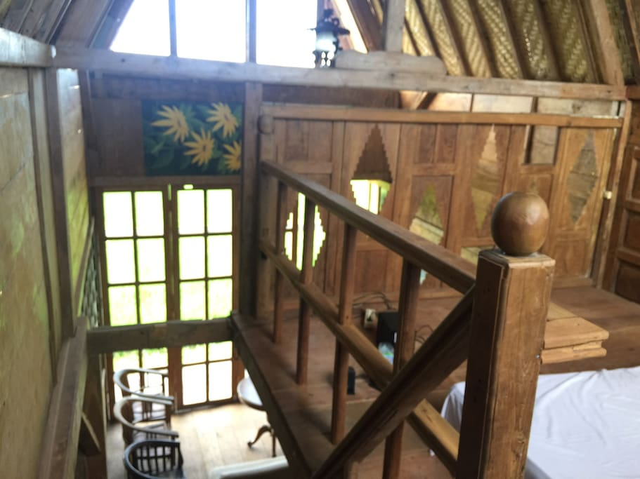 Two Stories Cabin made of recycle teak wood.