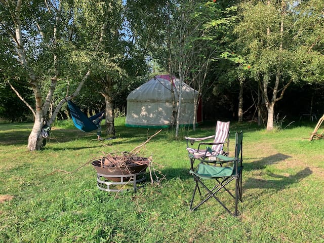 The yurt at Flying Horse Lawn