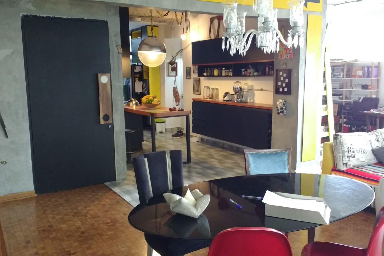cozinha integrada à sala