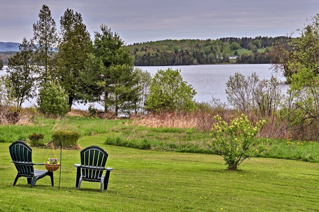 Enjoy breathtaking views over Little Hosmer Pond - found right in the backyard!