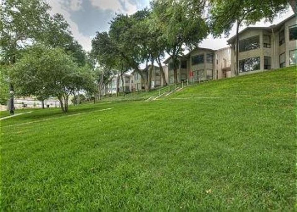 Tons of room to sunbathe, play games and take in the views of the beautiful Comal River and Schlitterbahn!