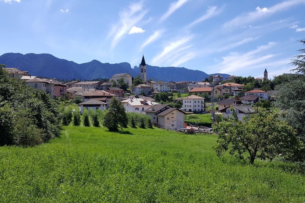 View over the nearest village