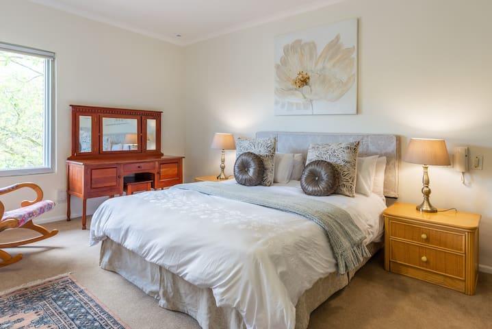 Master en suite bedroom on the ground floor overlooking Table Mountain