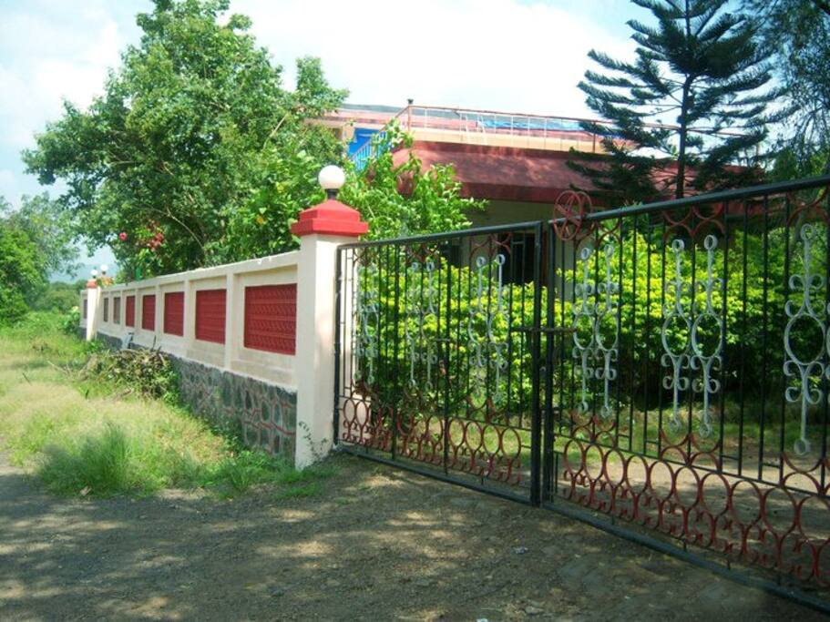 The entry gate to the premises