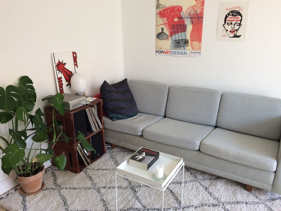 The sofa area in the living room