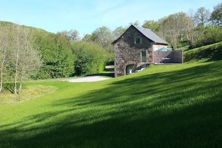 Ancienne grange rénovée, en pleine nature - Vézins-de-Lévézou - Casa