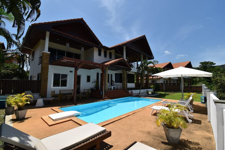 Seaview villa with great views and a private pool