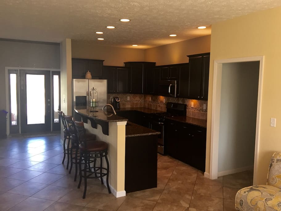 Huge kitchen with all the appliances