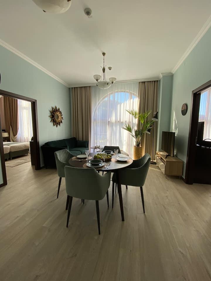 Апартаменты с 2 спальнями в Красной Поляне 540 м