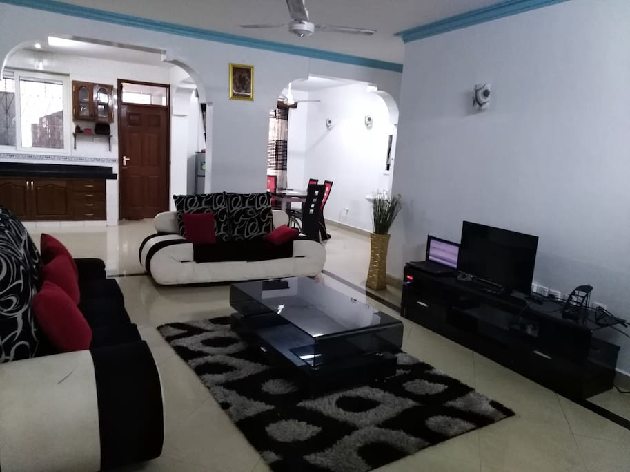Living room is spacious enough, this is common as you share with family
