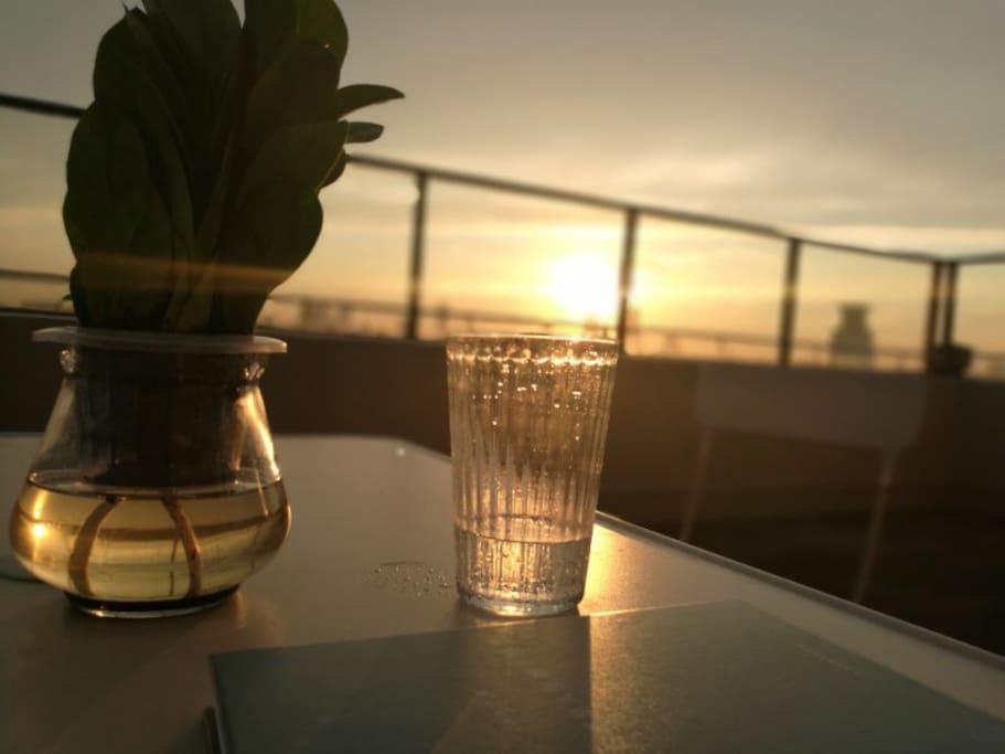 有时间可以欣赏夕阳西下