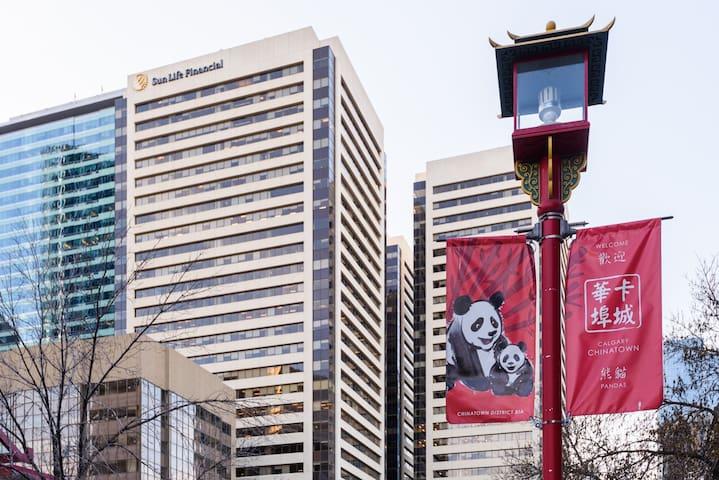 Calgary downtown bachelor Unit