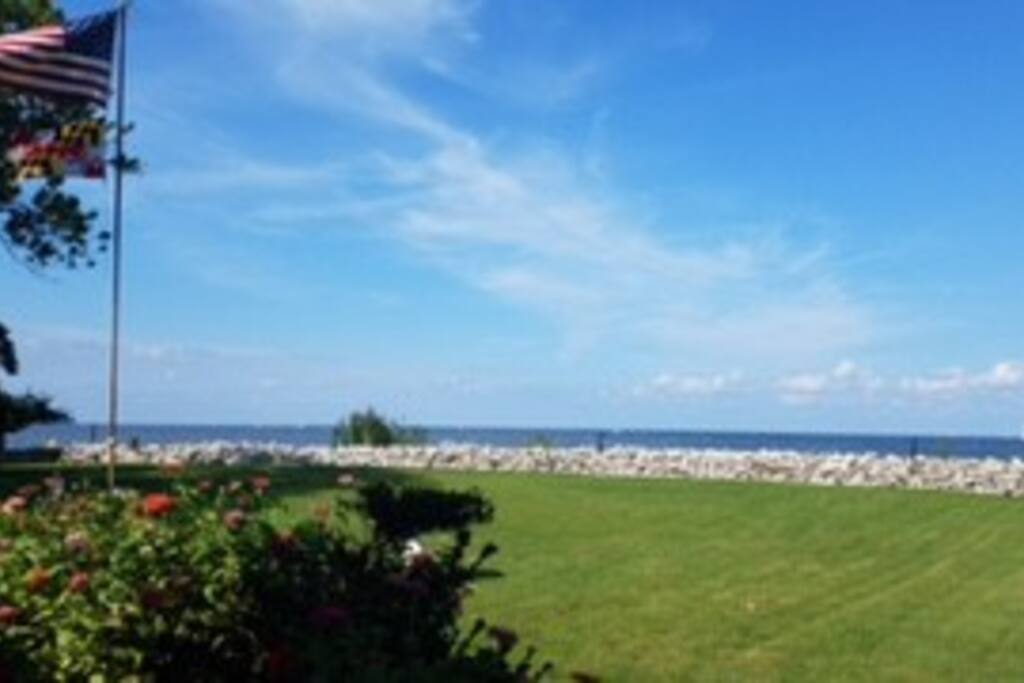 """View from the deck of """"Country House on the Bay"""""""