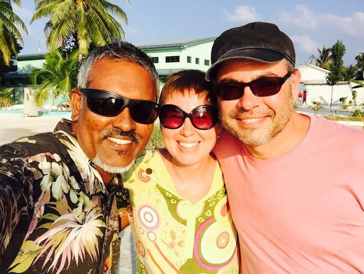 Stingray beach inn Tropical luxuries at Maafushi.