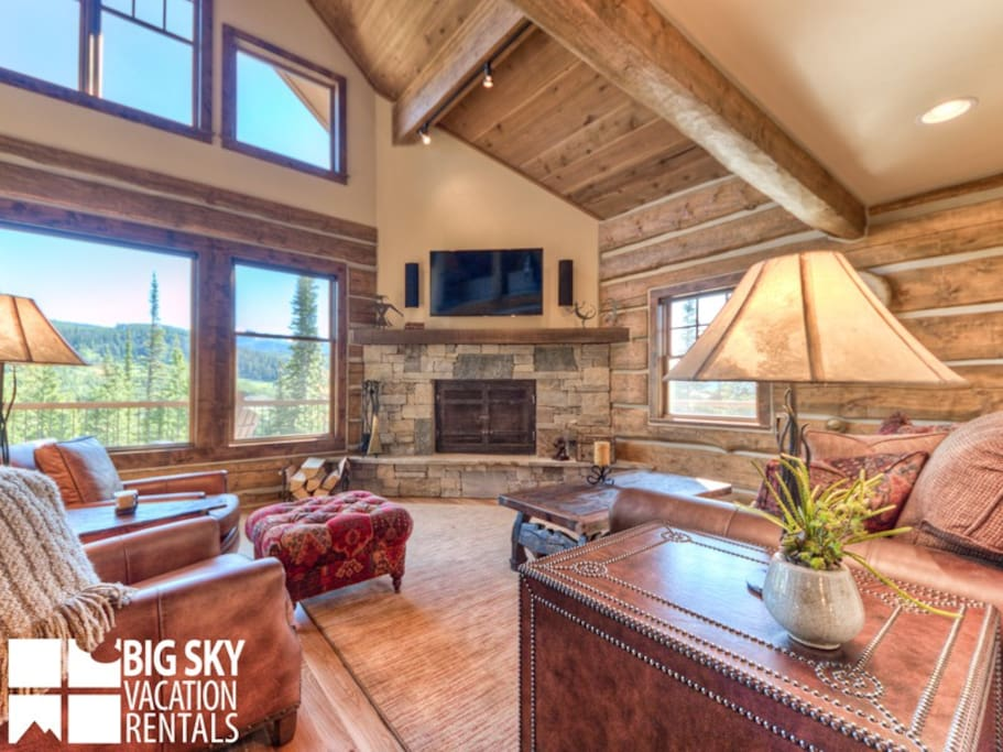 Big Sky Resort, Powder Ridge Oglala 8, Living, 1