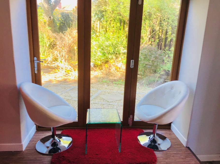 Seating View to Garden & Open Doors