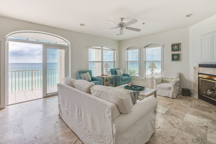 Unobstructed Gulf views, listen to the waves from your private balcony! - Sunset Villa