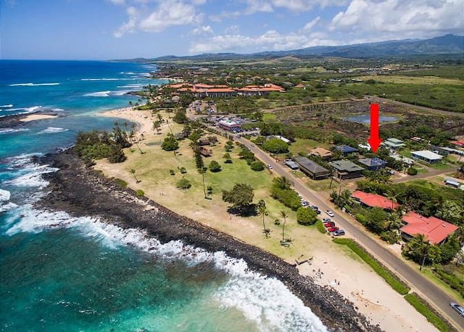 STEPS TO POIPU BEACH!  ~ KOALI HALE VILLA~WITH AC!
