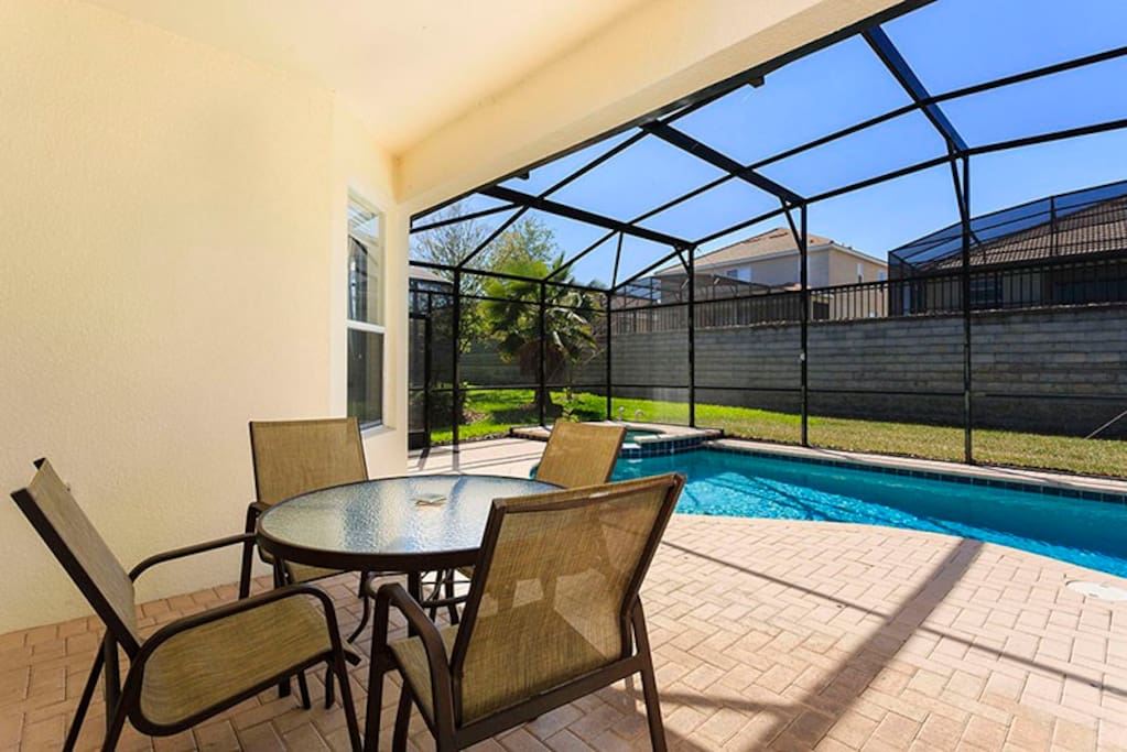 Enjoy the outdoors at anytime with this covered lanai