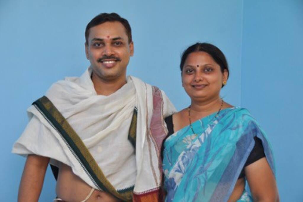 Your Hosts Mr Prasad and Mrs Pooja