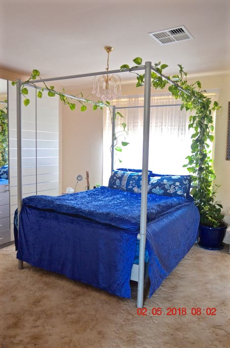 The Master Bedroom is sometimes called the Blue Room.