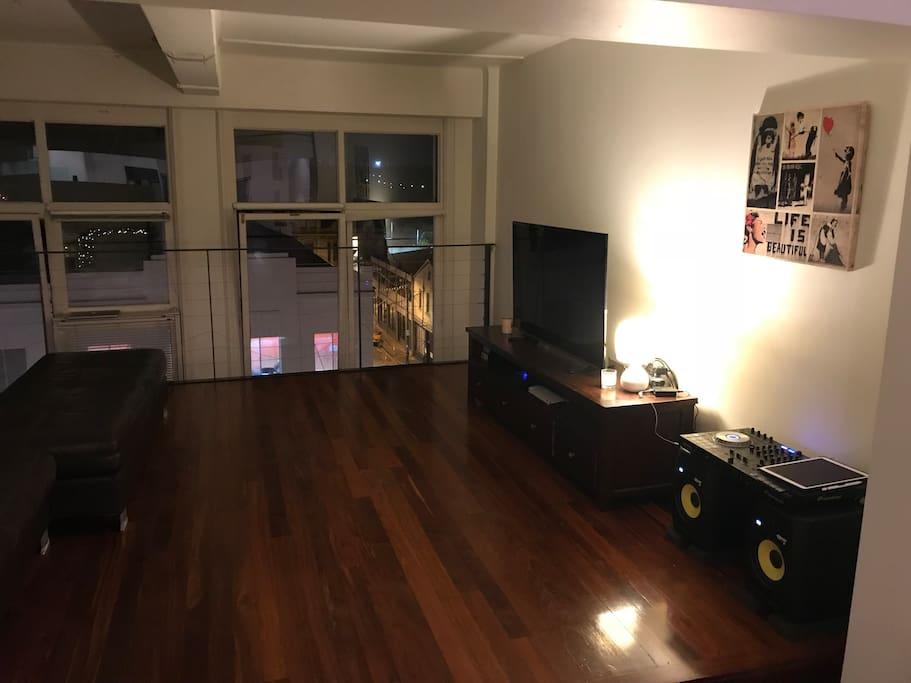 Loft style lounge room