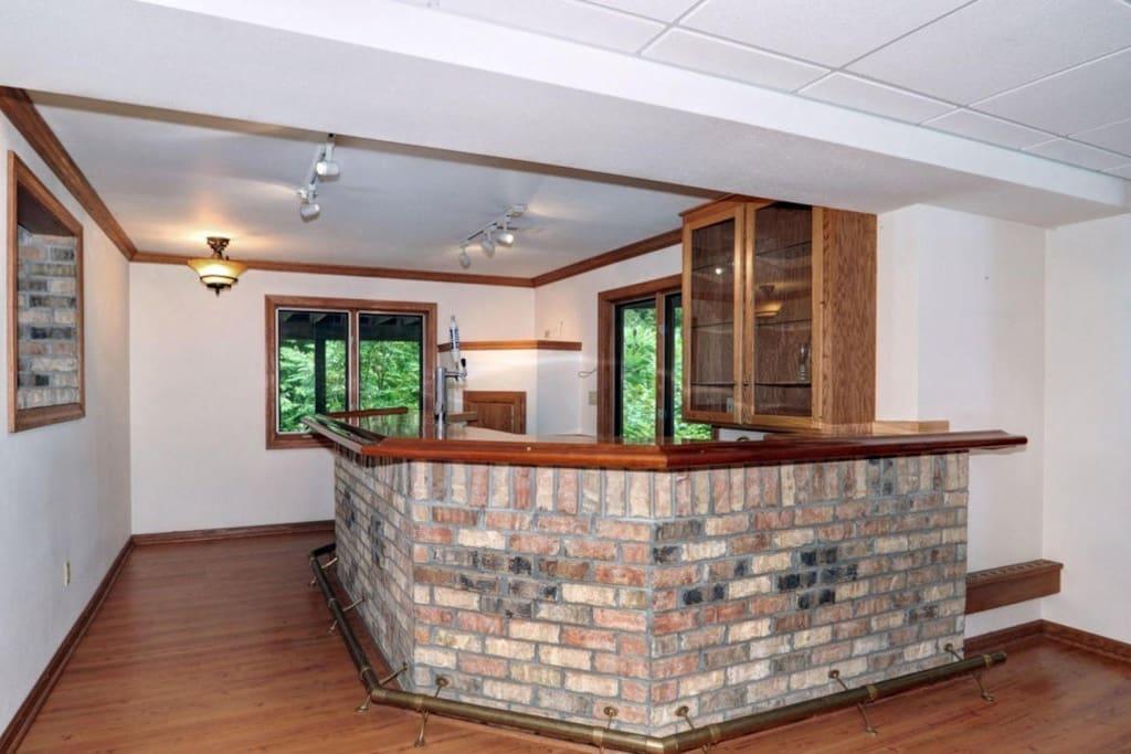 Beautiful full brick bar