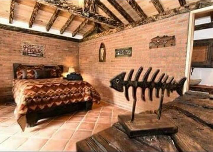 Hermosa  y acogedora cabaña rústica rural, Guarne.