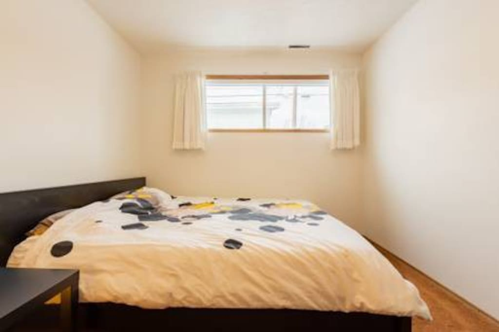 Spacious and bright private KING size bedroom!