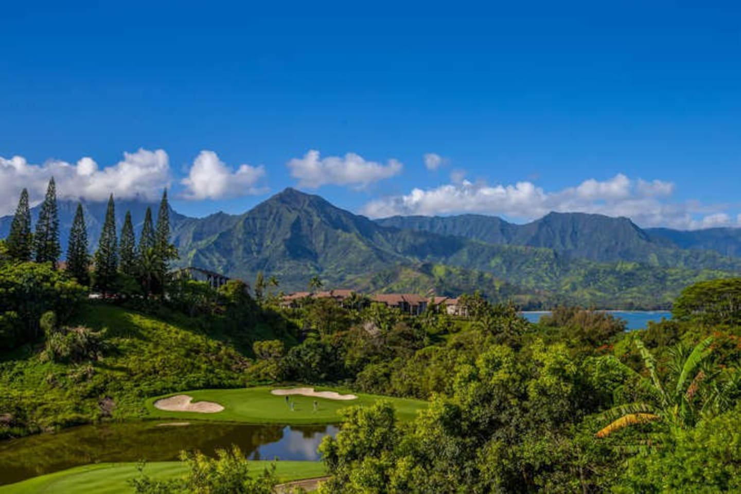 Amazing views of Hanalei Bay and the mountains