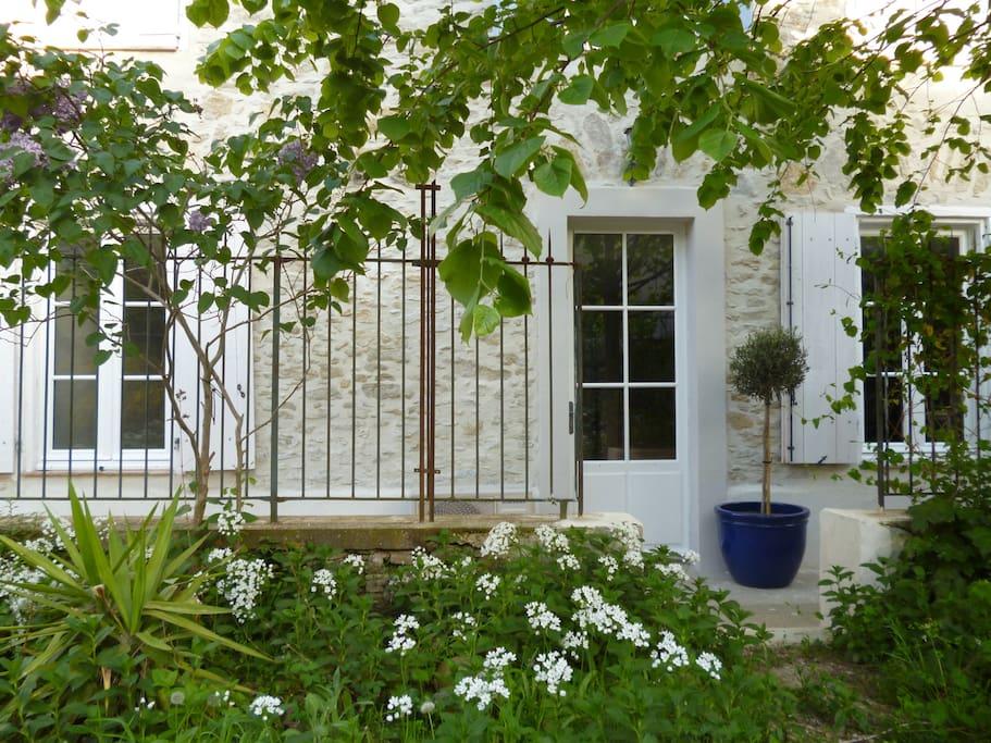 Your front door leading to the garden
