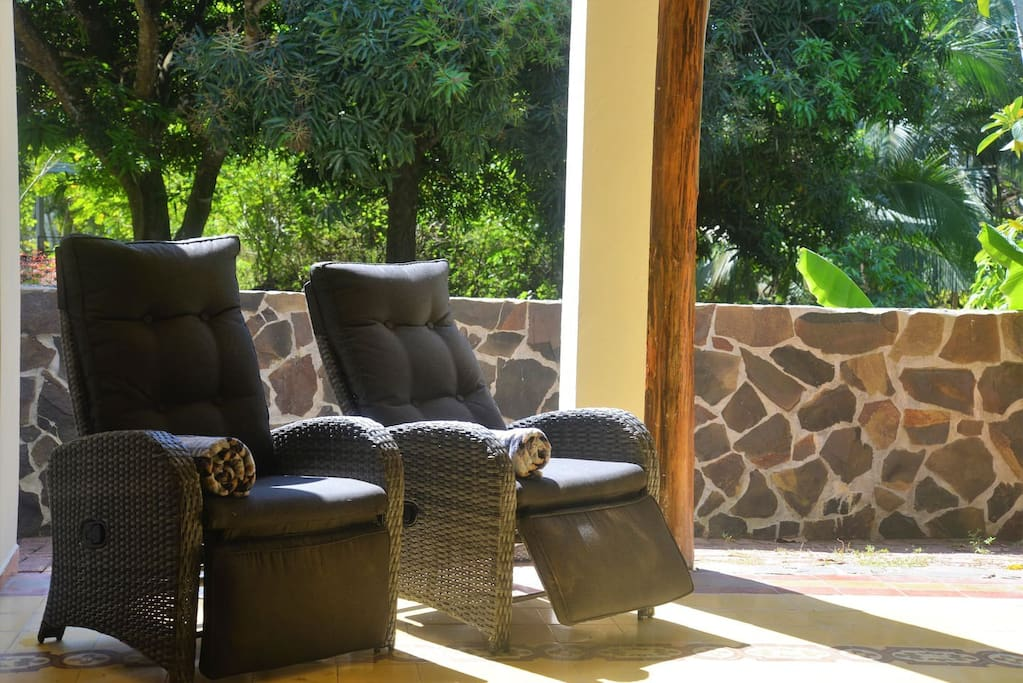 Relax in one of the many reclining chairs