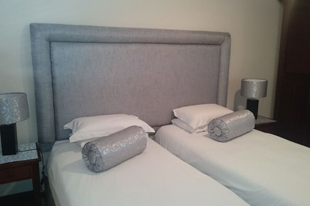 Silver Room: Spacious room with two single beds or one king size bed. Sleeps 2 people only. En suite bathroom with bath and shower. Strictly Non-Smoking. Dinner on request. Laundry service at minimum charge. Room service daily. Safe off-street parking.