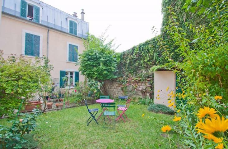 Charming and Quiet Flat with garden 5min Paris