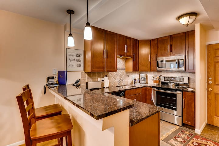 Garden Level remodeled Condo, walk to Ski School and Vail Village | VTE5b