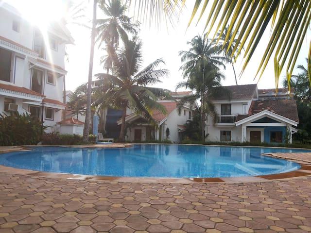 Serviced Riviera studio in Arpora, north Goa - Arpora - Apartamento