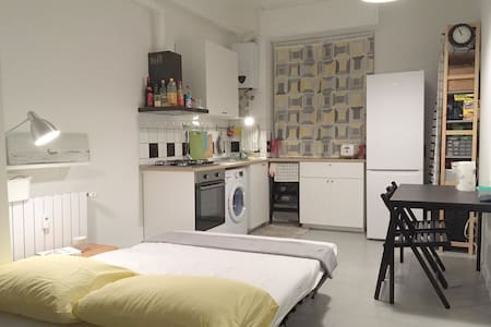 sofa-bed in cozy living room, 3 mins to metro - Milano