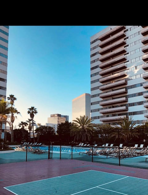 Amazing High Rise Huge Balcony 360 Views of LA