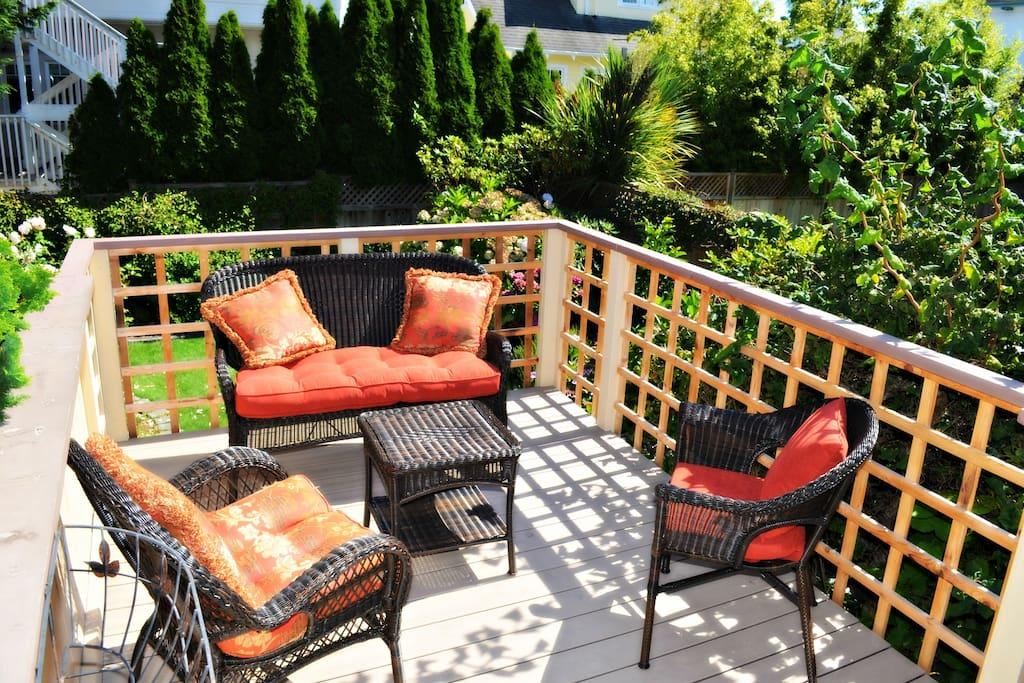 Deck, looking over back yard